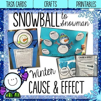 Snowman Cause and Effect Activities