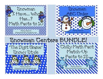 Snowman Centers BUNDLE!