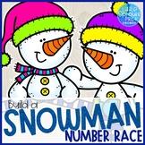 Snowman Centers Game, Numbers 1-6 - Prek, Kindergarten, Preschool, Pre-K
