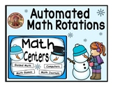 Automated Centers for Math Rotations Editable Powerpoint Snowman Design