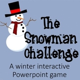 Snowman Challenge:  A Winter Interactive Powerpoint Game (ANY Subject)