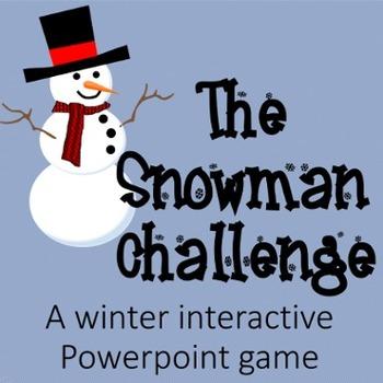 Snowman Challenge:  A Winter Interactive Powerpoint Game (
