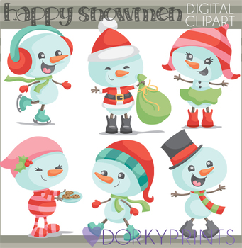 Snowman Christmas Clip Art