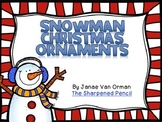 Snowman Christmas Ornament Gifts