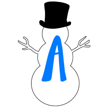 Snowman Christmas Theme Bulletin Board Letters/Numbers Holiday Theme Clip Art