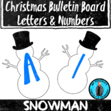 Snowman Christmas Theme Bulletin Board Letters/Numbers Hol