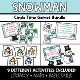 Snowman Circle Time Activities **BUNDLE**