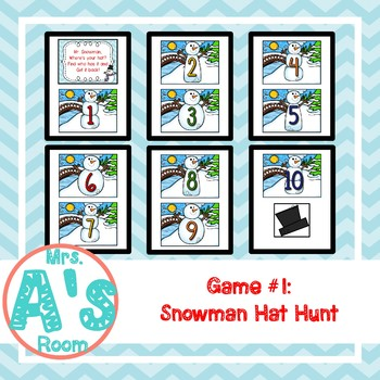 Snowman Circle Time Activities Set #2 **BUNDLE**