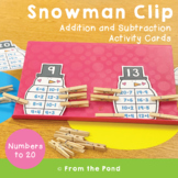 Snowman Clip - Addition and Subtraction Center