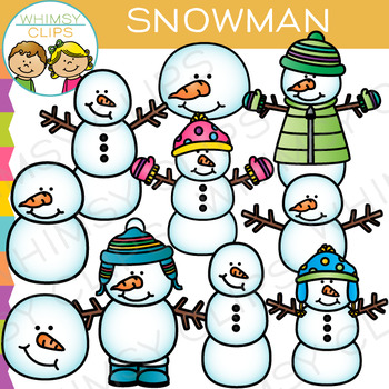 Snowman Clip Art By Whimsy Clips