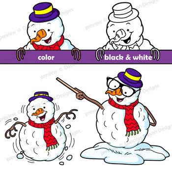 Winter Clip Art Snowman Cartoon Character