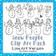 Snowman Clip Art Bundle for Commercial and Personal Use