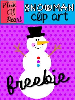 Snowman Clip Art FREEBIE