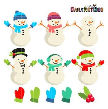 Snowman Clip Art - Great for Art Class Projects!