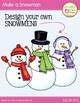 Snowman Clip Art:  Make Your Own Snowman