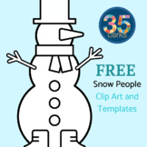 Snowman Clip Art Set and PDF Templates - 12 Days of Freebies - #5