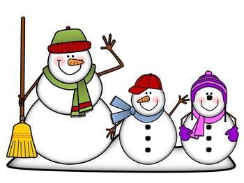 Snowman Clip Art: Snow Peeps!  {By Busy Bee Clip Art}