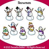Snowman Clip Art by Jeanette Baker