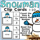Winter Clip Cards 1-20 {Snowman}