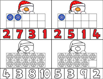 Snowman Clip Cards/Number Recognition