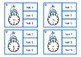 Snowman Clip Cards Telling time half hour