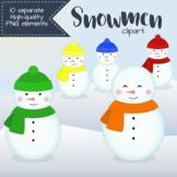 Snowman Clipart - Bright Colors