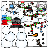 Build a Snowman Clipart (Winter Clipart)