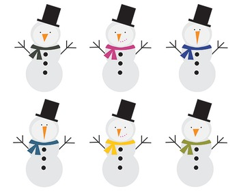 Snowman Clipart, Christimas, Winter,  Snowman Set #092