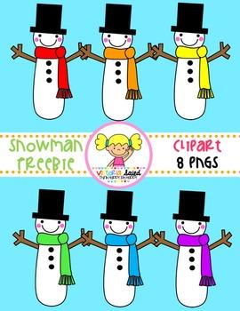 Snowman Clipart {Freebie}
