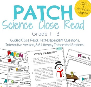 Snowman Close Read: States of Matter Text-Dependent Activity & Station Packet