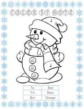 Snowman Color By Note