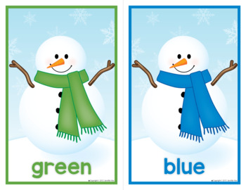 Snowman Color Matching Activity for Preschool and Pre-K