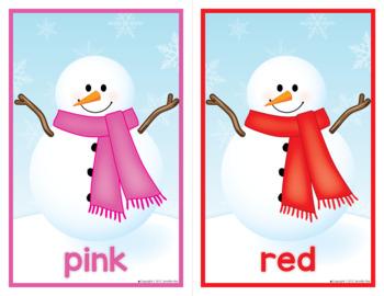 Snowman Activities | Snowman Color Matching Activities | Winter Color Matching