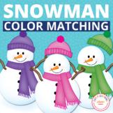 Snowman Activities | Snowman Color Matching Activities | W