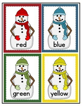 Snowman Sort by Color