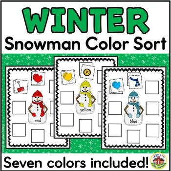 Winter Snowman Sort by Color