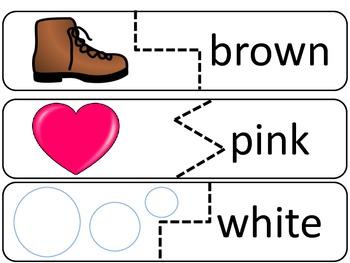 Snowman Color Word Puzzles