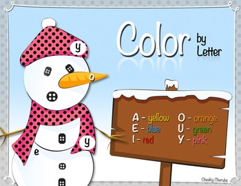 Snowman - Color by Letter (Upper/Lowercase Activity)