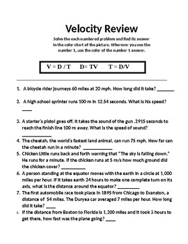 Snowman Physics Color by Number - Velocity Review