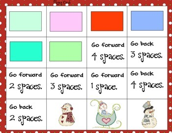 Snowman Coloring Matching and Counting Game