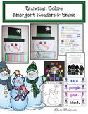 "Snowman Craft: ""Snowman Colors"" Emergent Readers & Game"
