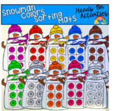 Snowman Colors Sorting Mats