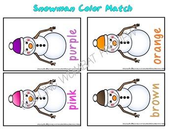 Snowman Colour Match
