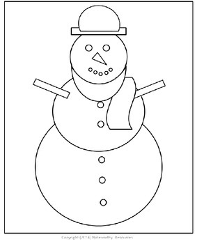 Snowman Colouring In Sheet