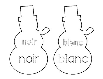 Snowman Colours (in French)