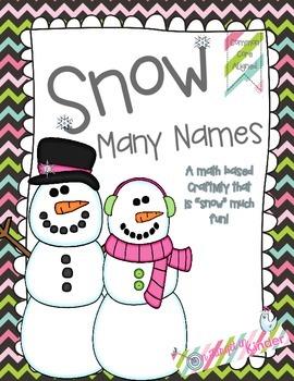 Snowman Common Core Craftivity