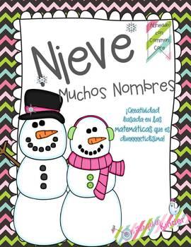 Snowman Common Core Craftivity {Spanish Version}