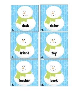 Snowman Common and Proper Noun Write the Room