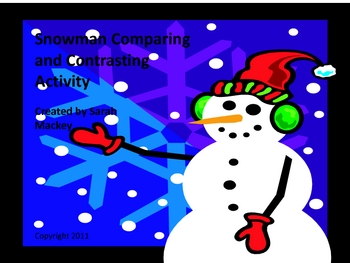 Snowman Compare and Contrast Activity