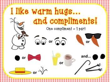 Snowman Compliment Sign